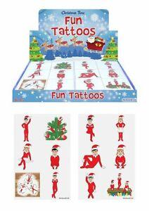 ELFIN AROUND ELF CHRISTMAS Tattoos Xmas Sticker Sheets Party Stocking Fillers