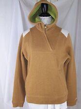 Burton Women's Large Half- Zip Tan Pull Over Cheyeene Fleece Lined Hoodie