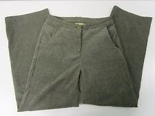 Woolrich Velour Dress Pants Dark Loden Stretch Button Zip Fly Women's Size 4 Euc