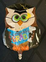BALLOON OWL CONGRATS GRAD Graduation Party Decorations Gift Book Mylar Graduate