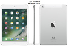 Apple - iPad mini 2 with Wi-Fi + Cellular - 64GB - (UNLOCKED) - Silver/White