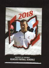 Cincinnati Bearcats--2018 Football Pocket Schedule--Coors Light