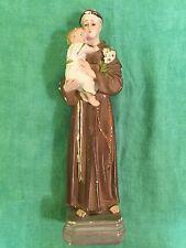 VINTAGE 1930's ST. ANTHONY OF PADUA BABY JESUS CHALKWARE RELIGIOUS STATUE