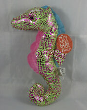 "FIESTA Glitter Seahorse Pink Green Blue Shiny Plush Stuffed Animal Toy 10"" NWT"