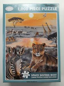 Safari Sundown - 1000 Piece Jigsaw Puzzle by Otter House, Space Saving Box