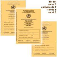 3 Stück: Internationaler Impfausweis Impfpass Impfbuch neu 3er Set