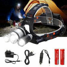 20000lm 3 XML L2 LED Stirnlampe Kopflampe Headlamp Taschenlampe Mit Zoom AKKU