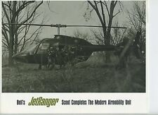 (102) Lot of Brochure :BELL JETRANGER Scout Completes Modern Airmobility Unit...