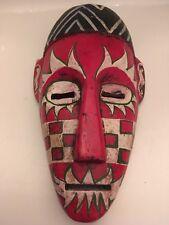 Decretive Carved Hand Painted Wooden Hanging Face Mask