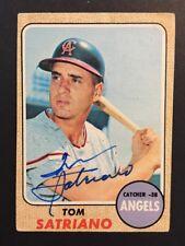 Tom Satriano Signed 1968 Topps Baseball Card #238 Auto Autograph