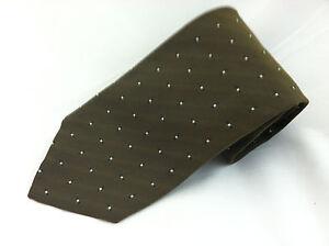 New Hugo Boss womens NWT brown silver geometric neckite tie silk Italy
