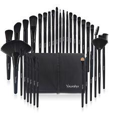 32Pcs Makeup Brushes Tool Eyebrow Face Pencil Brush Pocuh Bag Black & Bag Useful