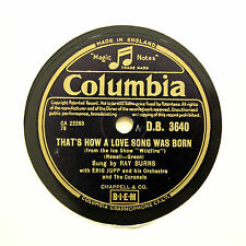 "RAY BURNS ""That's How A Love Song Was Born"" (E+) COLUMBIA DB-3640 [78 RPM]"