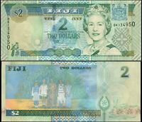 Fidschi 2 Dollars. UNZ ND (2002) Banknote Kat# P.104a