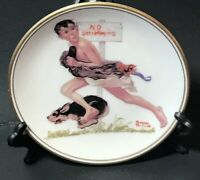 """""""No Swimming"""" The Best Of Norman Rockwell - 1983 Miniature Collectors Plate"""