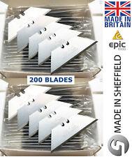 200 x Epic Strumenti SHEFFIELD MADE Utility Retrattile/coltello fisso lame, EPC1992