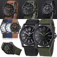 Stylish Mens Date Stainless Steel Military Sports Analog Quartz Army Wrist Watch