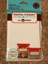 New listing Martha Stewart Kitchen Labels Removable Dishwasher Freezer safe Food Storage 72
