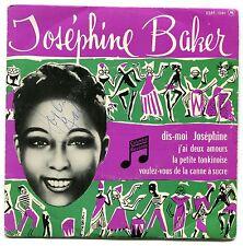 JOSEPHINE BAKER J'AI DEAUX AMOURS SINGLE COLUMBIA RECORDS ORIGINAL AUTOGRAPH