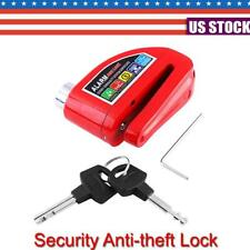 Red Anti-theft Wheel Disc Brake Lock Security Alarm Motorcycle Scooter Bicycle