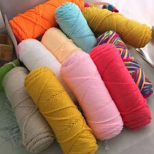 Lot Of Crochet Knitting soft yarn Milk fiber cotton Chunky 8 strands Crafts 100g
