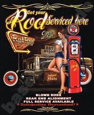 T-Shirt PIN UP V8 Hot Rod BIKER VINTAGE RETRO KUSTOM 50s OLDTIMER USA CARS 465