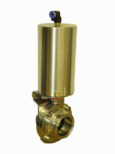 """2 """" Tri clamp Sanitary butterfly valve with pneumatic actuator"""