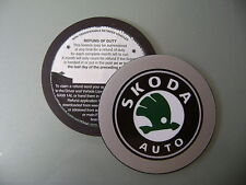 Magnetic Tax disc holder fits any skoda  car skodas