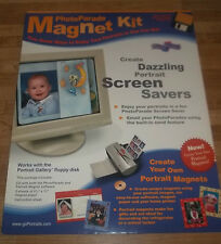 Photo Parade Magnet Kit Create Portraits Magets Screen Savers Disk Included