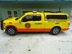 GREENLIGHT FIRE FORD F-150 HAZMAT RESCUE  EMERGENCY OPERATIONS CUSTOM UNIT