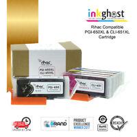 RIHAC PGI-650 CLI-651 PGI-650XL CLI-651XL Ink Cartridges for Canon Printer cart