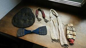 Antike Geldkatze Tasche Perlenstickerei Konvolut