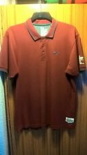 Crosshatch Polo Shirt XL Burgundy Great Condition