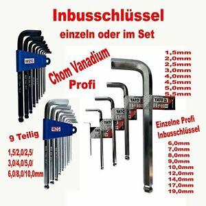 10 tlg Inbusschlüssel Innensechskant L-Form Schlüssel Stiftschlüssel 1,5-10mm