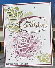 HAPPY BIRTHDAY HANDMADE CARD, STAMPIN' UP ROSE WONDER,