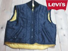 GIACCA CAMICIA GILET JEANS LEVIS STRAUSS TG. M BLU VINTAGE A+