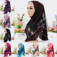 Womens Islam Chiffon Plain Basic Headscarf Shawl Scarf Hijab Wrap Headwear Lot
