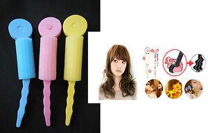 Magic Foam Wavy Hair Rollers Heat Free Curler Bendy Twist Styling Tool Easy Curl
