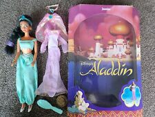 Disney Jasmine Doll 1992 Mattel Rare Boxed With 2nd Set Of Clothes,hairbrush
