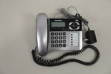 PANASONIC KX-TG1061 CORDED PHONE With Answering System Call Waiting Silver