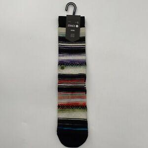 Stance Men's Reykir Casual Crew Socks Mid-Cushioning Poly Blend Aztec Stripe L