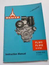 Deutz Motoren FL911 + FL912 Betriebsanleitung