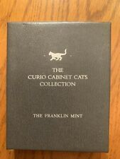 Franklin Mint Curio Cabinet Cats Collection Booklet Collectors Case Only (Rare)