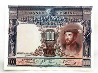 Spain-Billete. Carlos I. 1000 Pesetas 1925. Madrid. SC-/UNC-. Perfecto y escaso