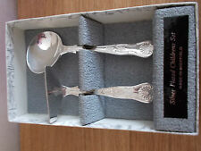Silver plated childrens set made in Sheffield