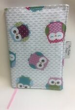 A5 Diary Cover,Week to view A5 diary cover,A5 journal cover,owl Oilcloth