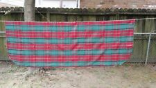 """Red Green Gold Accent Christmas Plaid Rectangle 78""""X56"""" Tablecloth Free Shipping"""