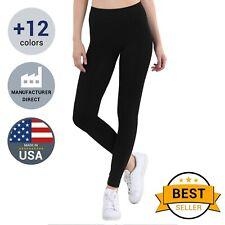 ec12441390174a Nikibiki Women's Seamless Premium Stretch Basic Leggings, Made in USA, One  Size