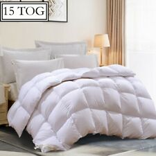 Luxury Duck Feather & Down Duvet Quilt 15 Tog Bedding All 4 Sizes Hotel Quality
