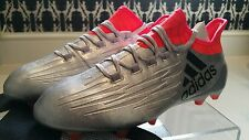 Adidas X 16.1 Football Boots FG/AG Silver Metallic Core Black Solar Red UK 8.5